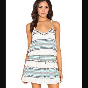 SAYLOR Callie Striped Mini Dress Smocked
